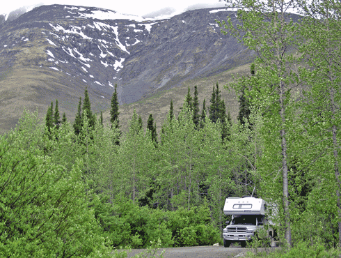 Campsite with RV